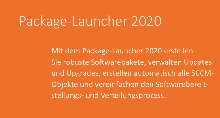 package launcher text